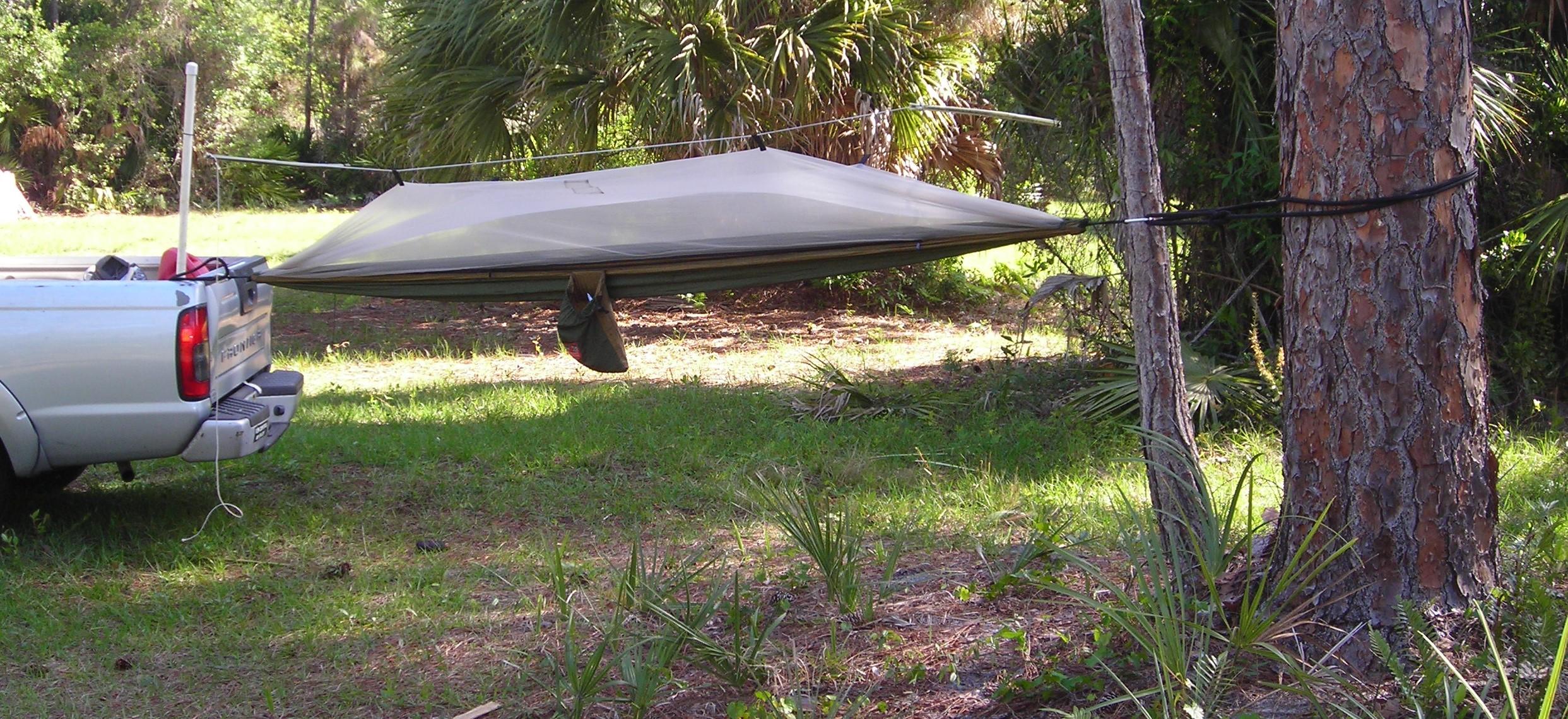 Hammock Camping With A Single Tree