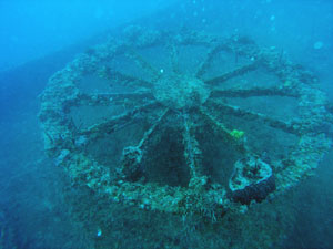 Cable Reel on the Thunderbolt Shipwreck