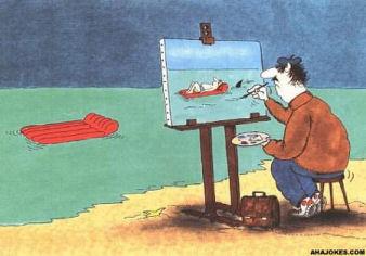 Shark Attack Painting