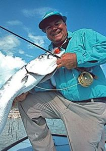 Lefty Kreh & Barracuda on Fly