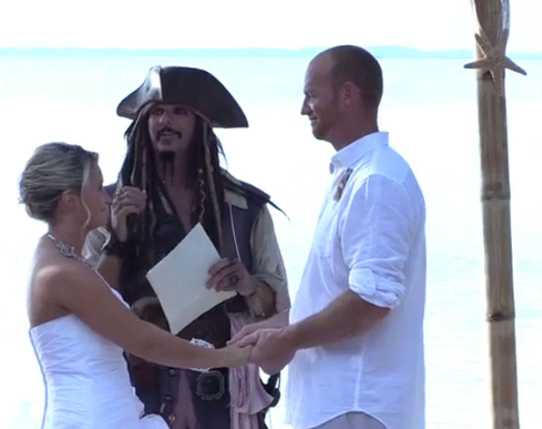 Jack Sparrow Officiating Pirate Wedding
