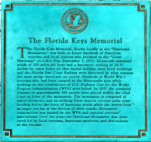 Florida Keys Memorial Hurricane Monument