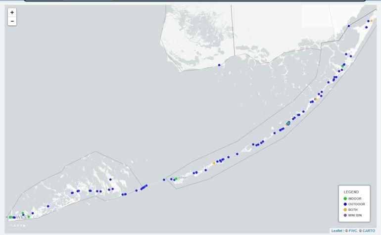Fishing Line Bin Locations