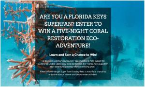 Win a Florida Keys Superfan Coral Reef Restoration Eco-Adventure