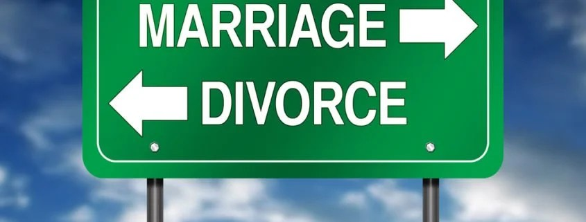 A street sign with the word Marriage and Divorce to signify Annulment