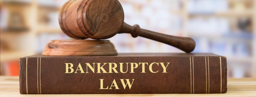 Chapter 7 bankruptcy law book with a gavel on top