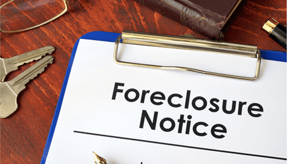 A foreclosure notice to signify the end of the Florida foreclosure moratorium for covid-19