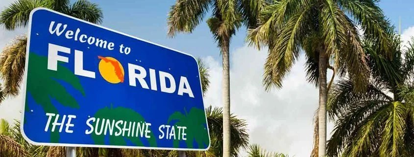 A welcome to Florida sign that signifies Bankruptcy in Florida: