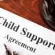 A photo of a Florida child support agreement