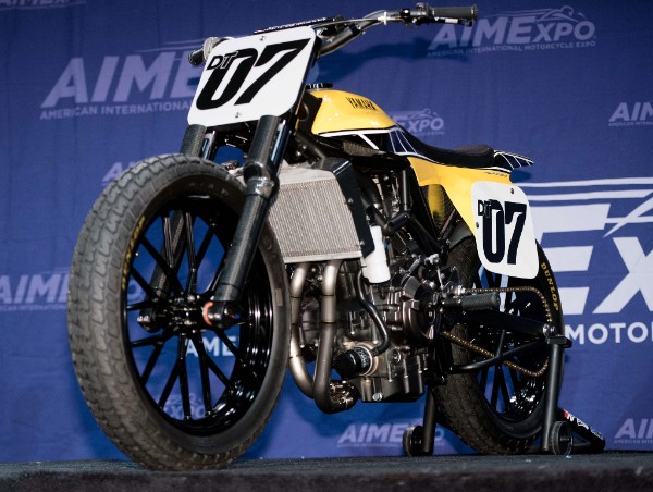 Yamaha flat track concept bike unveiling at AIMExpo 2015. Photo: J. Willie David III/Florida National News.
