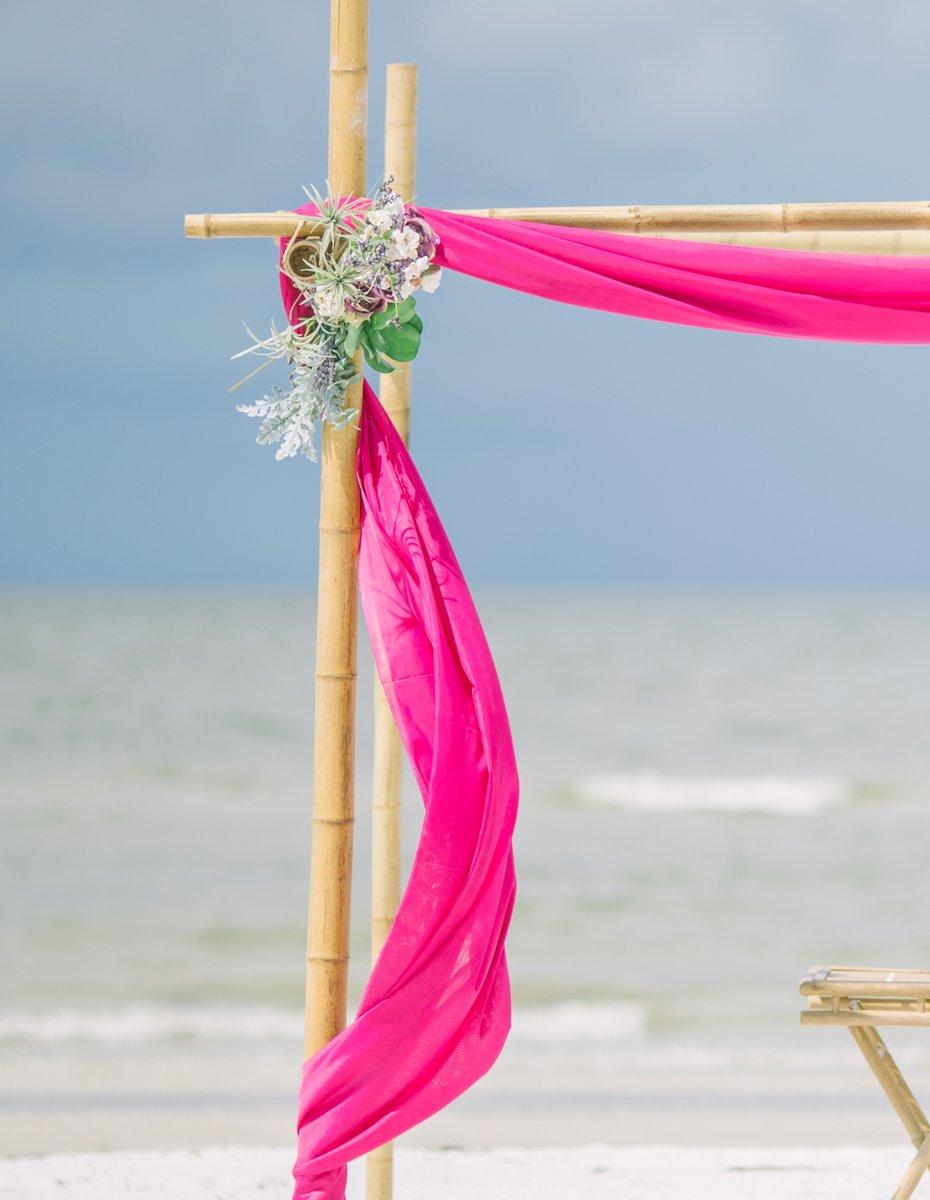 best-affordable-florida-wedding-decoration Simple Pink Wedding Decoration