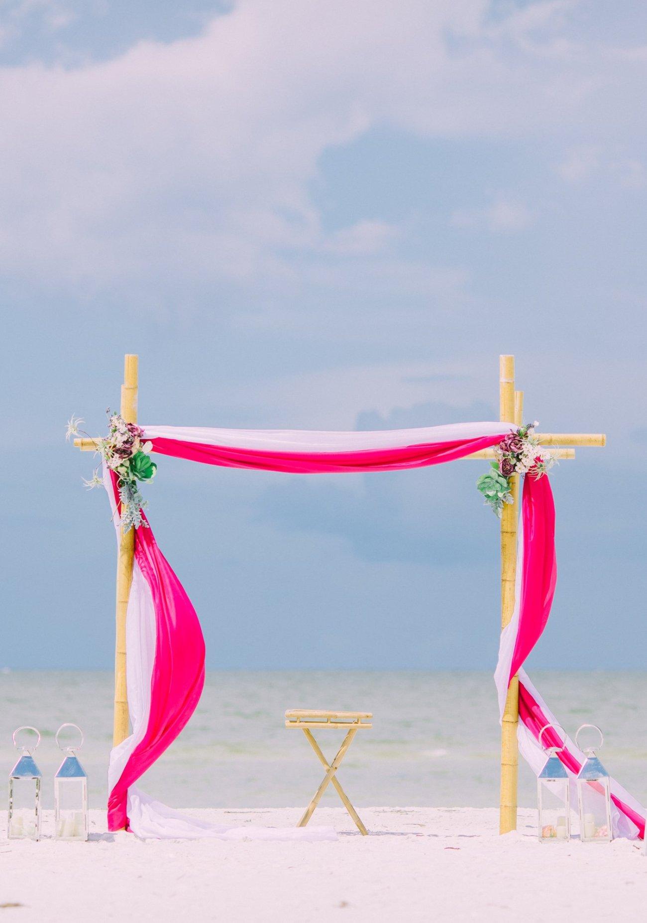 affordable-wedding-decoration-florida-8 Hot Rose Theme Wedding Arbor