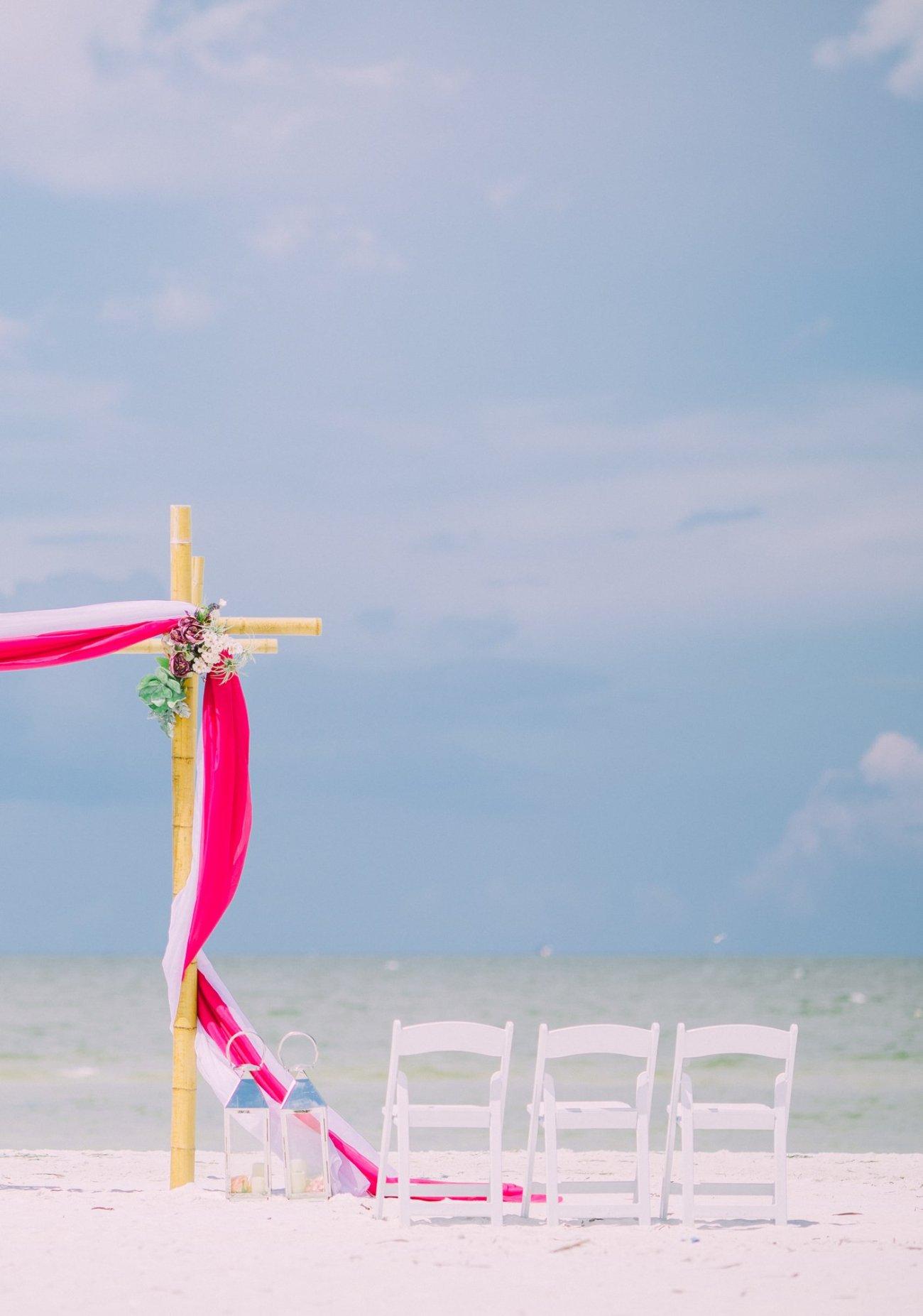 affordable-wedding-decoration-florida-9 Hot Rose Theme Wedding Arbor