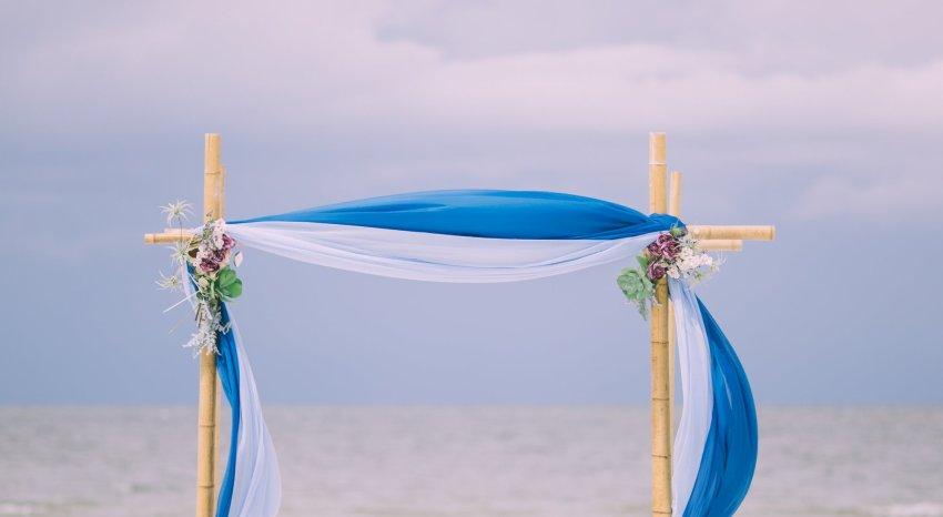 cheap-beach-wedding-fort-lauderdale-7 Deep Blue Wedding Arbor