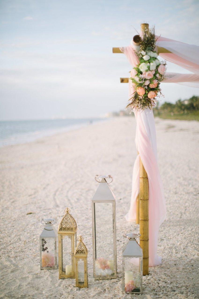 ft-myers-miami-fort-lauderdale-florida-beach-wedding-decoration-11 Artistic Pink Beach Wedding Decoration