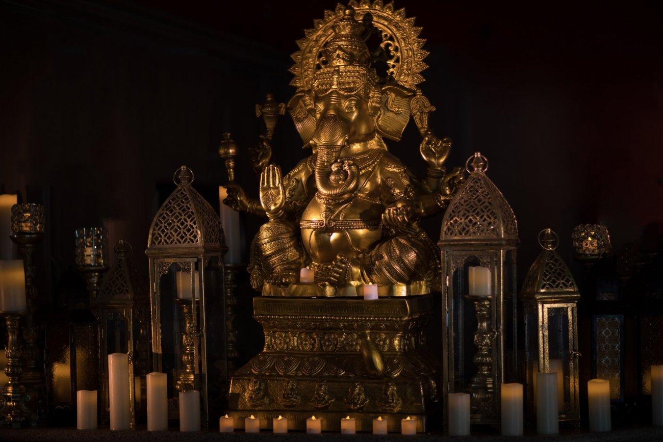 indian-wedding-decoration-orlando-ganesha-statue Indian Wedding Decoration in Florida | Ganesha Statue