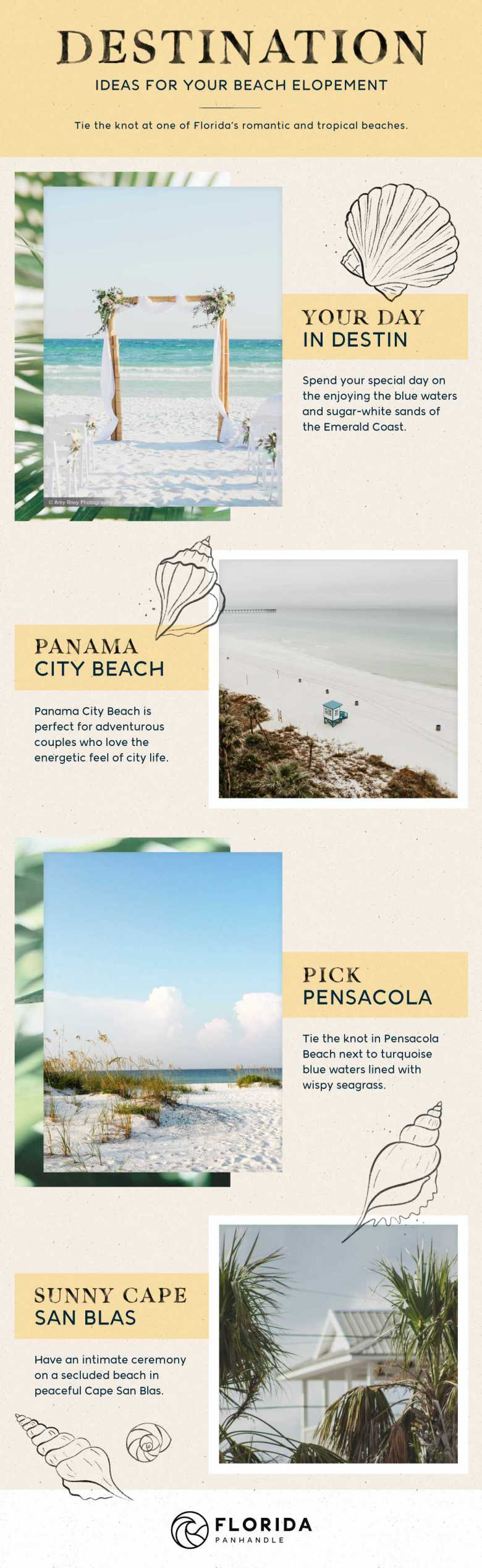 beach elopement locations in the Florida Panhandle