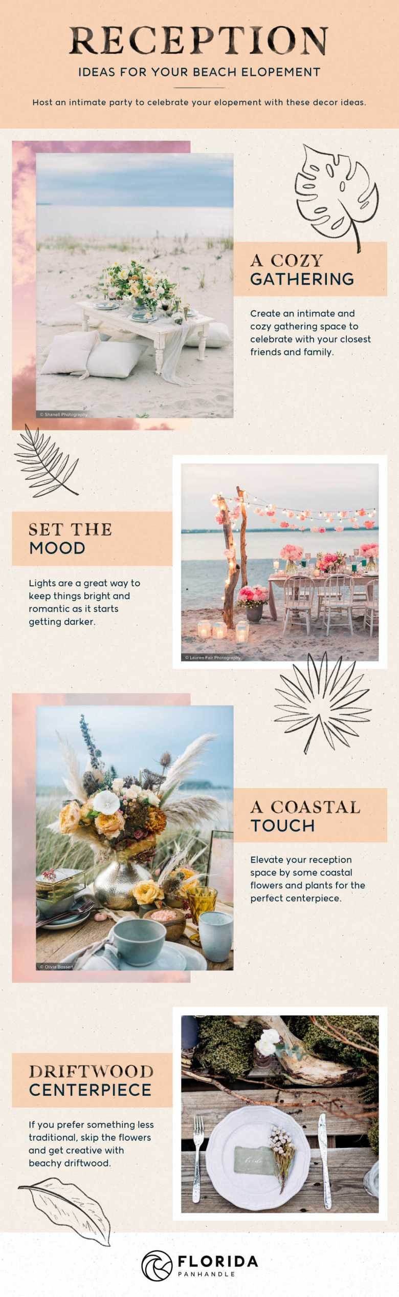 reception ideas for a beach elopement