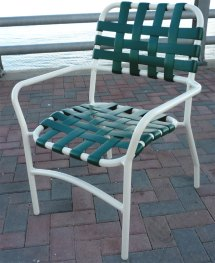 Patio Furniture Vinyl Strap Chairs