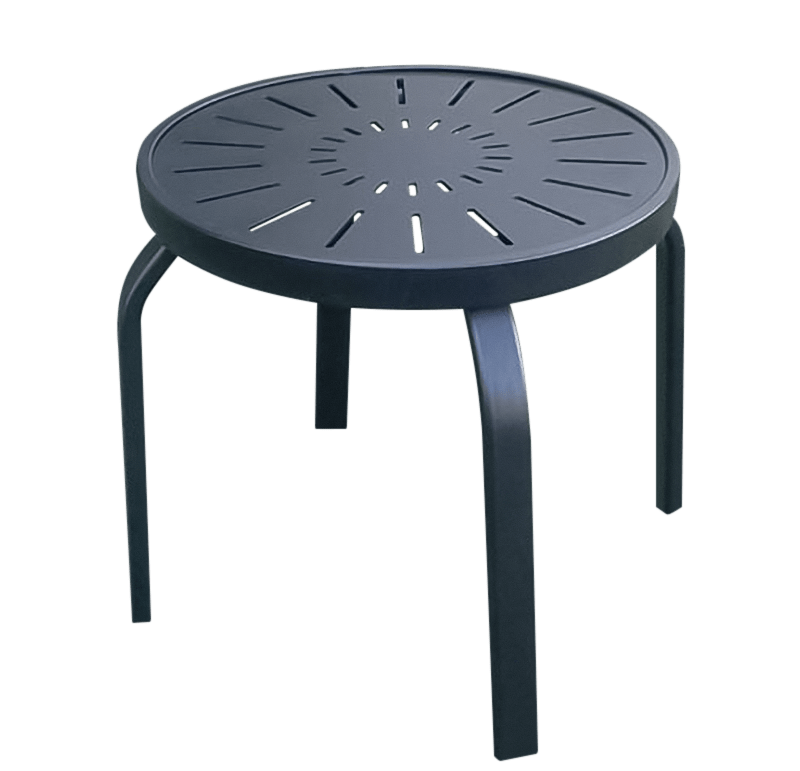 aluminum patio end table r 18punch