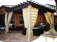 Traditional Pergola with Sunbrella curtains | Florida Pergola