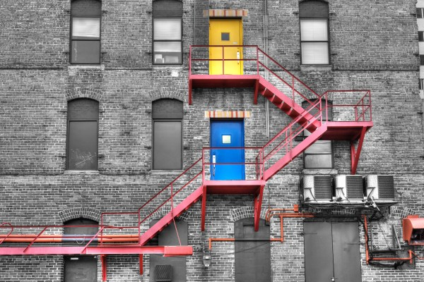Fire Escape Selective Color Matthew Paulson