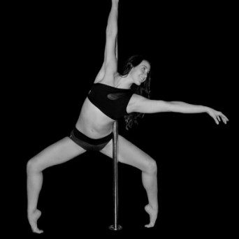 Brittany Bate. Brittany began pole fitness in 2013 as a way to regain strength after enduring several injuries from a car accident. It helped her gain the confidence back in her body as well as her strength. She fell in love with combination of agility and grace on the pole. Brittany currently enjoys sharing her passion for pole through teaching and performing. Her love of health and fitness led her to become an AFAA certified group instructor in 2008 and is currently pursuing a second BS degree in Human Nutrition.