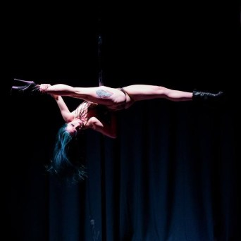 Leah is from Columbia, Missouri where she teaches and trains at Muse Pole Fitness. She fell in love with pole 3 years ago and became a teacher about 2 years ago. There is nothing more fulfilling in her life than pole, and she loves getting the opportunity to give back and do what she loves. Leah has performed and competed around the country. She is most proud of placing 3rd at the 2015 Florida Pole Fitness Championships and 5th at the NAPDC Midwest Elite pole competition. Other memorable performances include: The 8th annual Michelle Mynx Extravaganza, the first ever Poetry in Motion: Sapphic Eddition, headlining The Rock and Roll Pole Show: Tribute to Classic Rock.