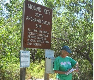 Mound Key Archaeological State Park sign