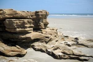 Coquina rocks at Washington Oaks Gardens State Park, Palm Coast