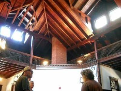 Wooden ceiling and framework at Princess Place lodge, Palm Coast, Florida