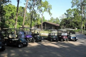 Golf carts are common at Fort Wilderness