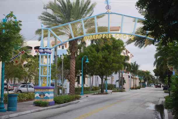 Pineapple Grove entrance in Delray Beach by Adam Fagan