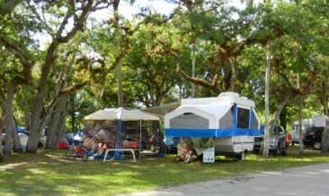 Campsite at at Collier-Seminole State Park near Naples