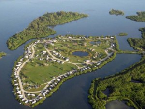 Aerial photo of Long Point Park, Brevard County, FL