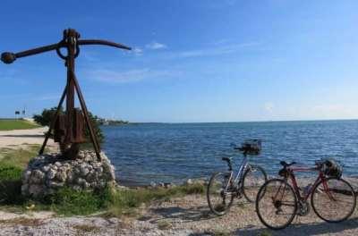 Scenery while biking the Florida Keys Overseas Heritage Trail in Islamorada.