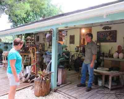 The Old Road Gallery along the Florida Keys Overseas Heritage Trail in Islamorada.