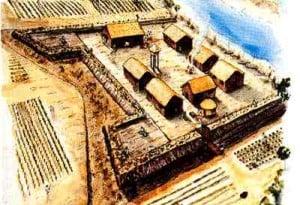 artist's depiction of fort mose