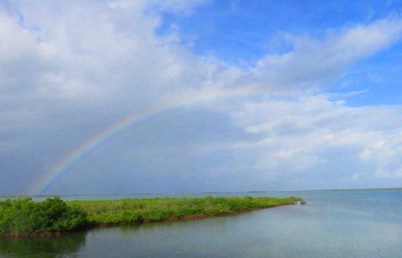 Rainbow viewed along Florida Keys Overseas Heritage Trail near Key West.