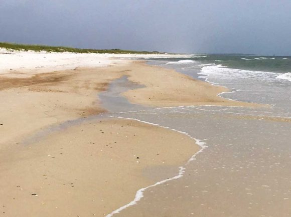 The beach on St. George Island goes on for mile after pristine mile. (Photo: Bonnie Gross)