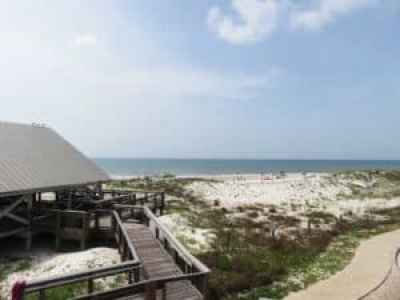 Picnic pavilion at St. George Island State Park. (Photo: Bonnie Gross)
