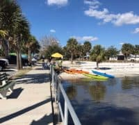 Beach kayak launch area in Cedar Key.