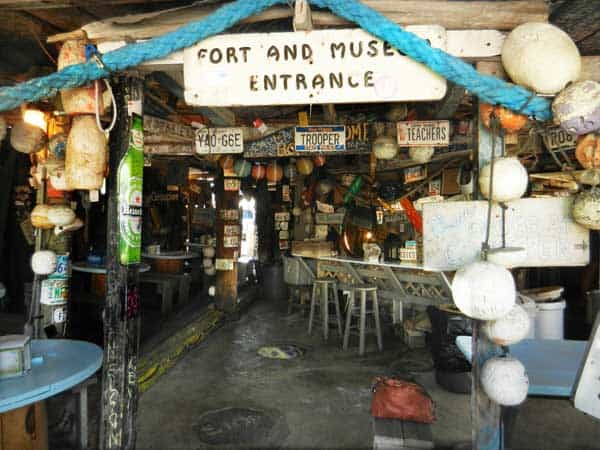 B.O's Fish Wagon, 801 Caroline St., Key West, is virtually legendary for its funky Key West style.