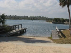 Boat ramp at Gamble Rogers State Park