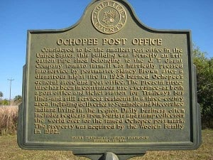 Ochopee, Florida, has smallest post office in the US