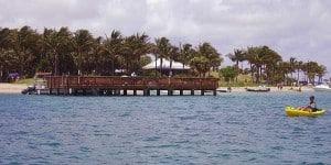 The dock at Peanut Island, Palm Beach, Florida