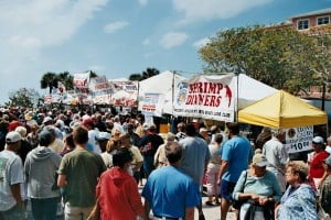 Crowds line up at Fort Myers Beach Shrimp Festival