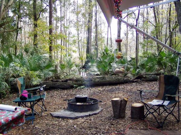 Campsite at Hillsboro River State Park near Tampa