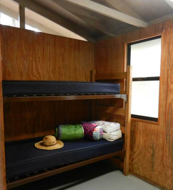 Bunks in cabin at Hontoon Island State Park