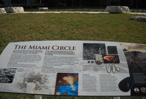 Sign for Miami Circle in Miami Circle Park